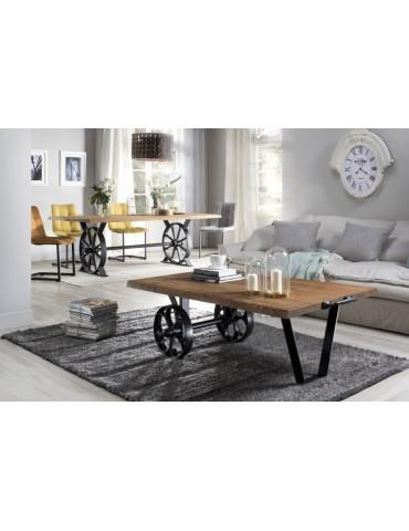 Unikatowy Stół Salvador blat lity dąb - Remo - Salon Meblowy Empir 02