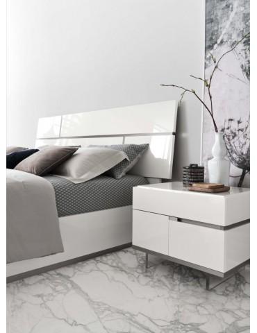 Białe w połysku Łóżko Artemide 180 x 200 - Alf Italia - Meble Empir Łódź Reda