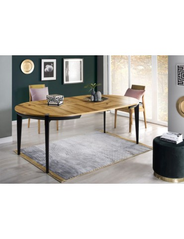 rozkładany Stół okrągły fi 120 cm Moreno MOR.073.03 - Meble Krysiak - Salon Meblowy Empir