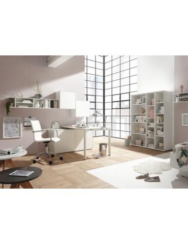 białe duże biurko skandynawskie z szafkami Now! easy - Hülsta - Meble Empir