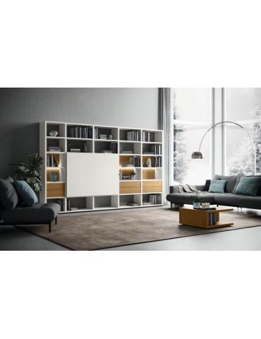 biały Regał z szafką RTV Mega Design - Hülsta - Meble empi